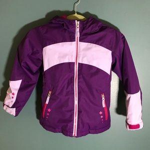 Lands End girls puffer winter coat 5 / 6 pink